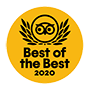 TripAdvisor Travellers' Choice 2020 Best of the Best Award